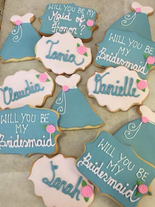 Bridesmaid Sugar Cookies