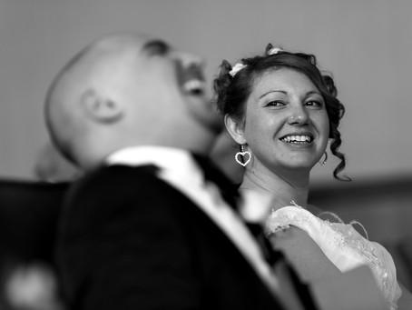 Émotions autour de la mariée