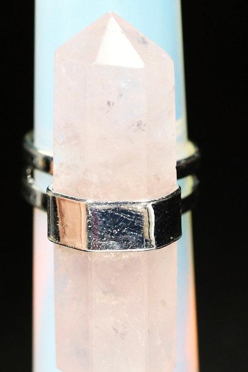 Rose Quartz Crystal Ring