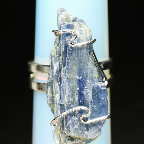 Blue Kyanite Crystal Ring