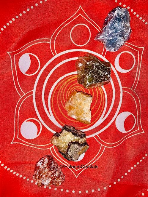 5 Piece Calcite Set