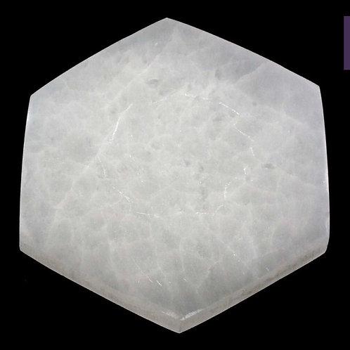 "Selenite Hexagon 5-6"""