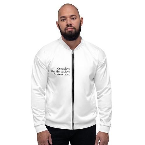 Black and White OM Unisex Bomber Jacket