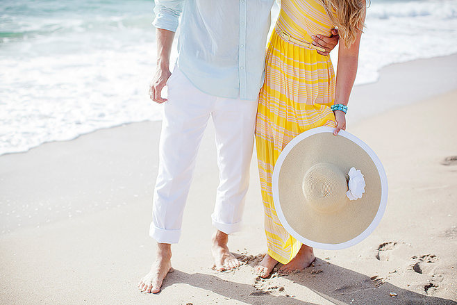 Couple walking on Palm Beach photo by Jenny Schartner