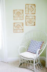 rattan wall art
