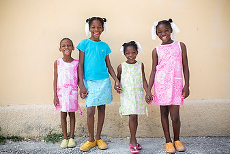 haitian orphans wearing lilly pulitzer