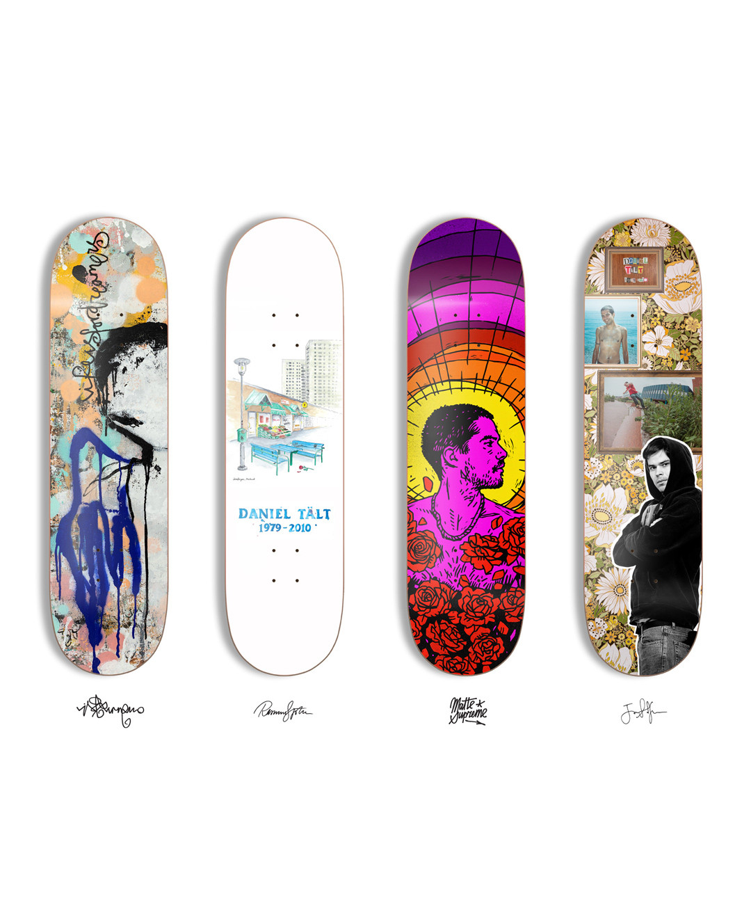 Board series by 4 invited artists