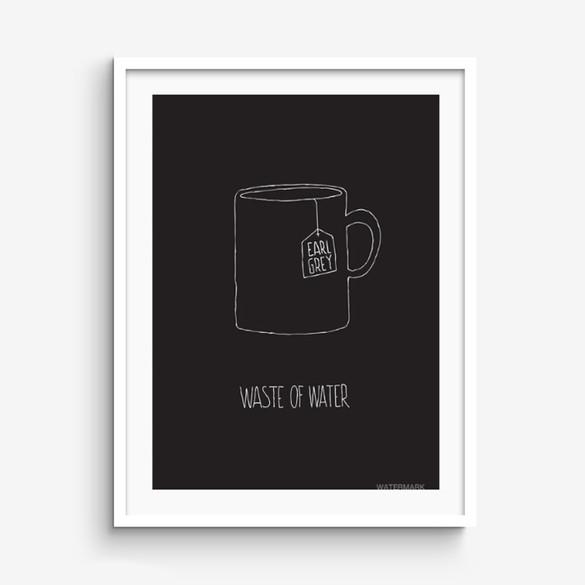 Waste Of Water print