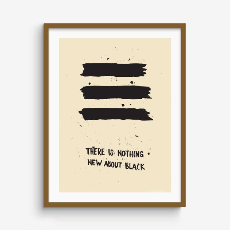 New Black print