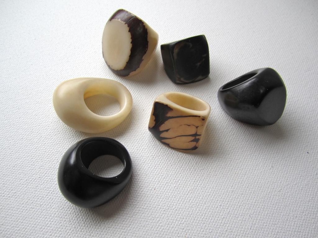 Tagua Nut Rings by Belart