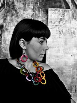 Colorful Tagua Necklace - Fair Trade
