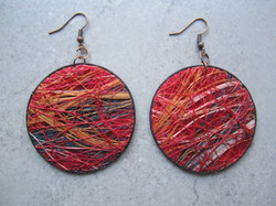 Red Fique Earrings by Belart