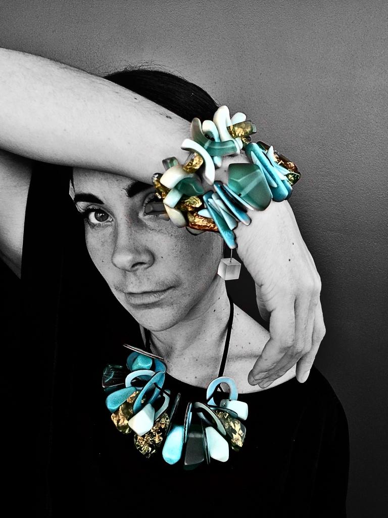 Eco-Resin Necklace and Bracelets