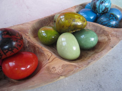 Colorful Tagua Pods for Your Home