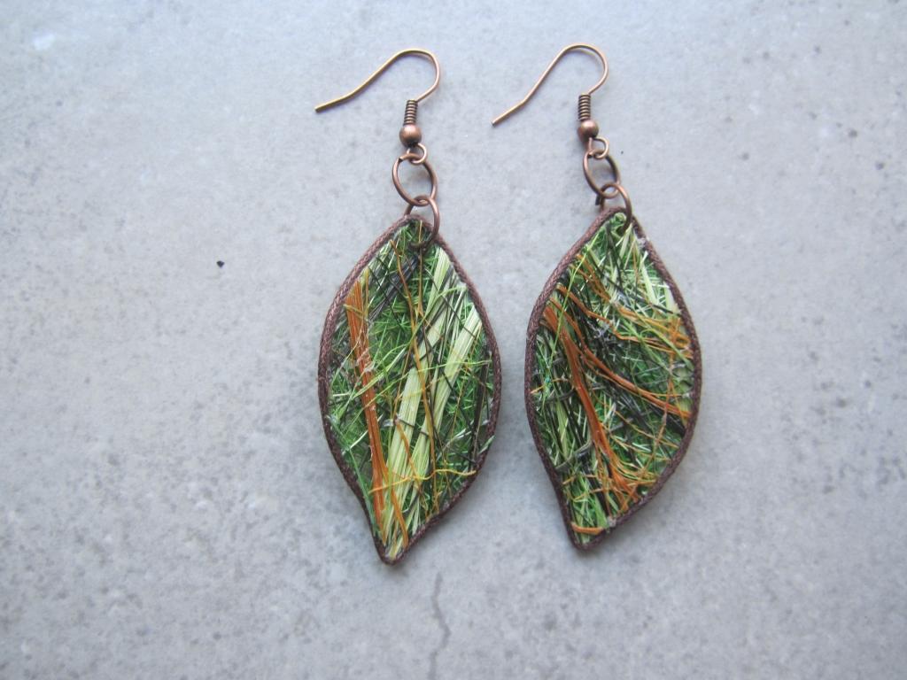 Green Fique Earrings by Belart