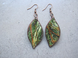 Green Fique Earrings by Belart