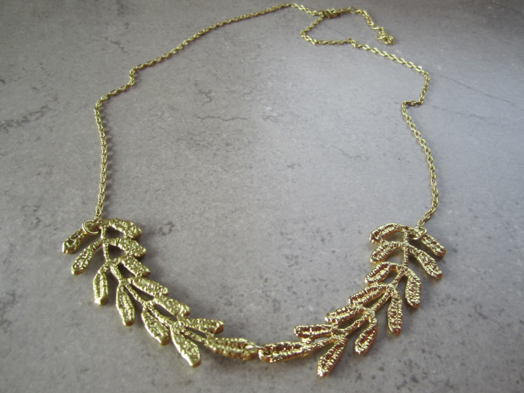 24 Gold-Dipped Vintage Lace Necklace