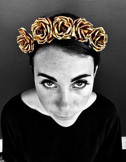Gold Rose Wedding Crown