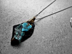 Black Turqoise Pendant by Aleja