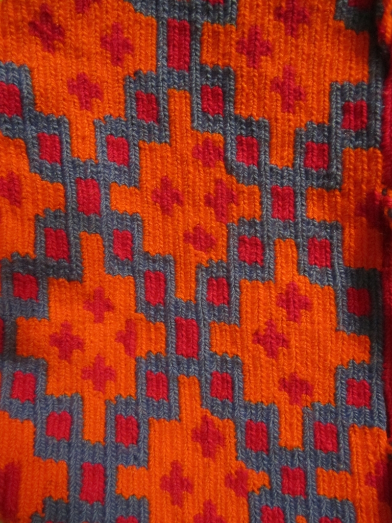 Wayuu Weaving Pattern in Red