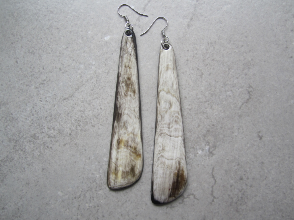 Fair Trade Up-cycled Horn Earrings