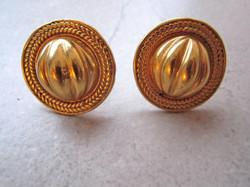 Pre-Columbian Style Earrings in Gold