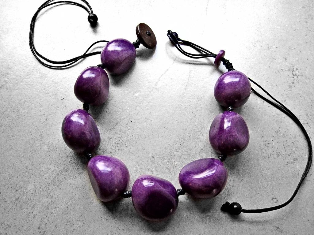 Purple Tagua Necklace by Belart
