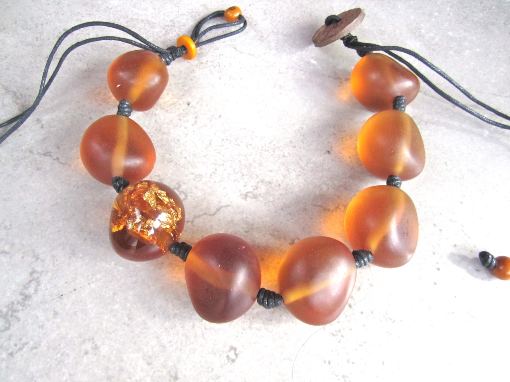Eco-Resin Beads in Amber