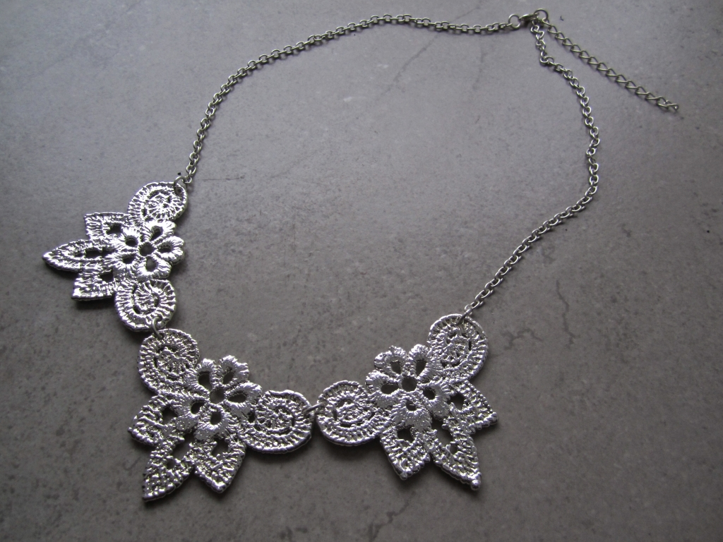 Sterling Silver Dipped Vintage Lace