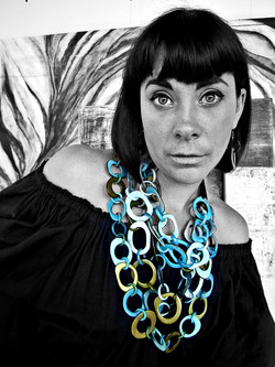 Turquoise Tagua Necklace by Belart