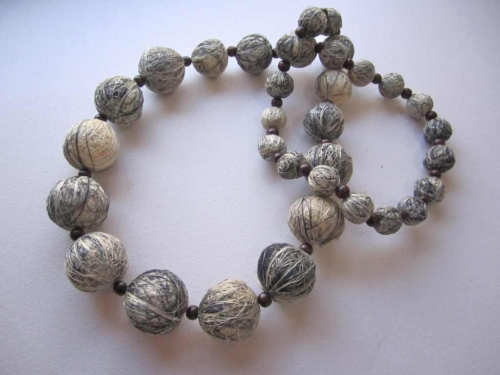 Fique Agave Beaded Necklace