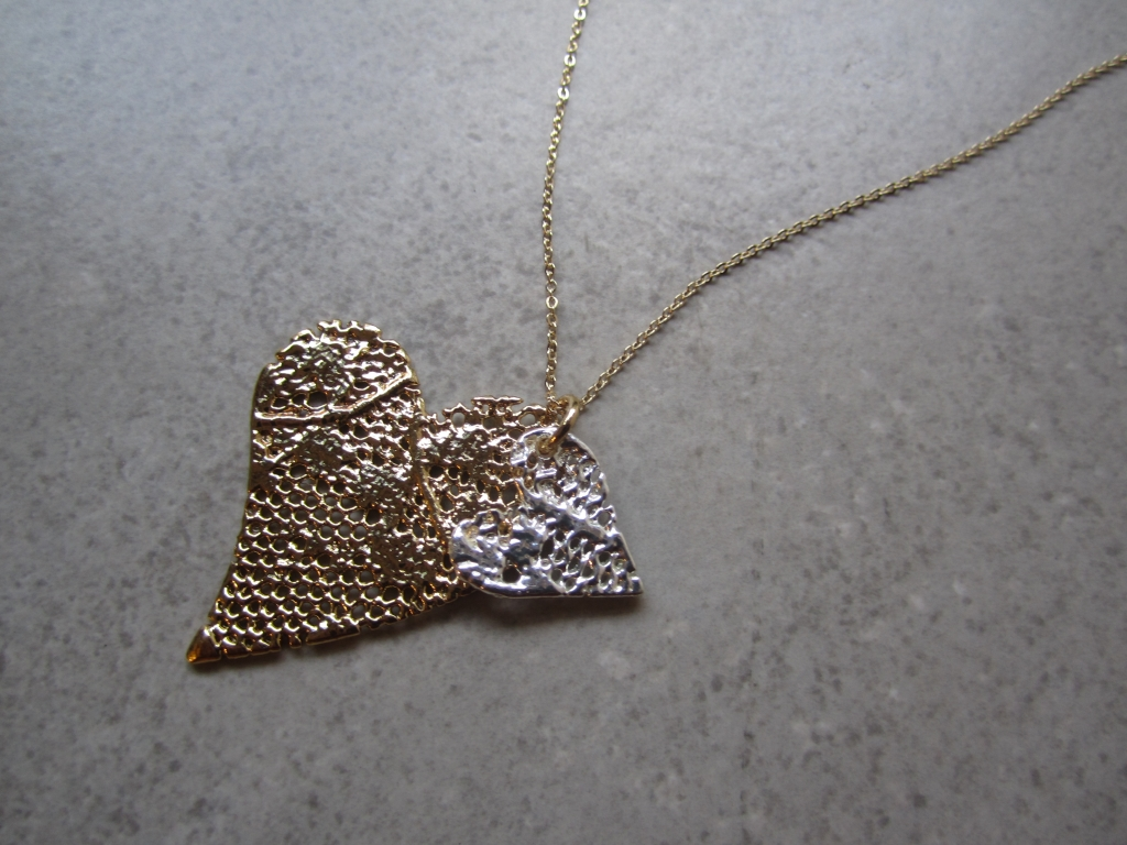 Gold Vintage Lace Necklace