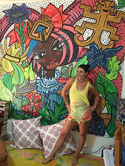 Chinon Williams with Mural