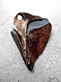 Amber Stone Pendant by Aleja Designs
