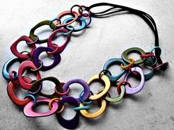 Colorful Fair Trade Tagua Necklace