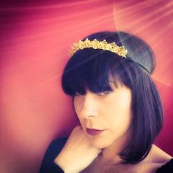 Gold Dipped Wedding Headband