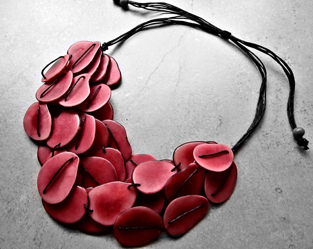 Red Fairtrade Tagua Necklace