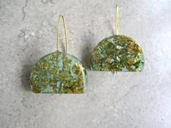 Green Eco-Resin Earrings by Belart