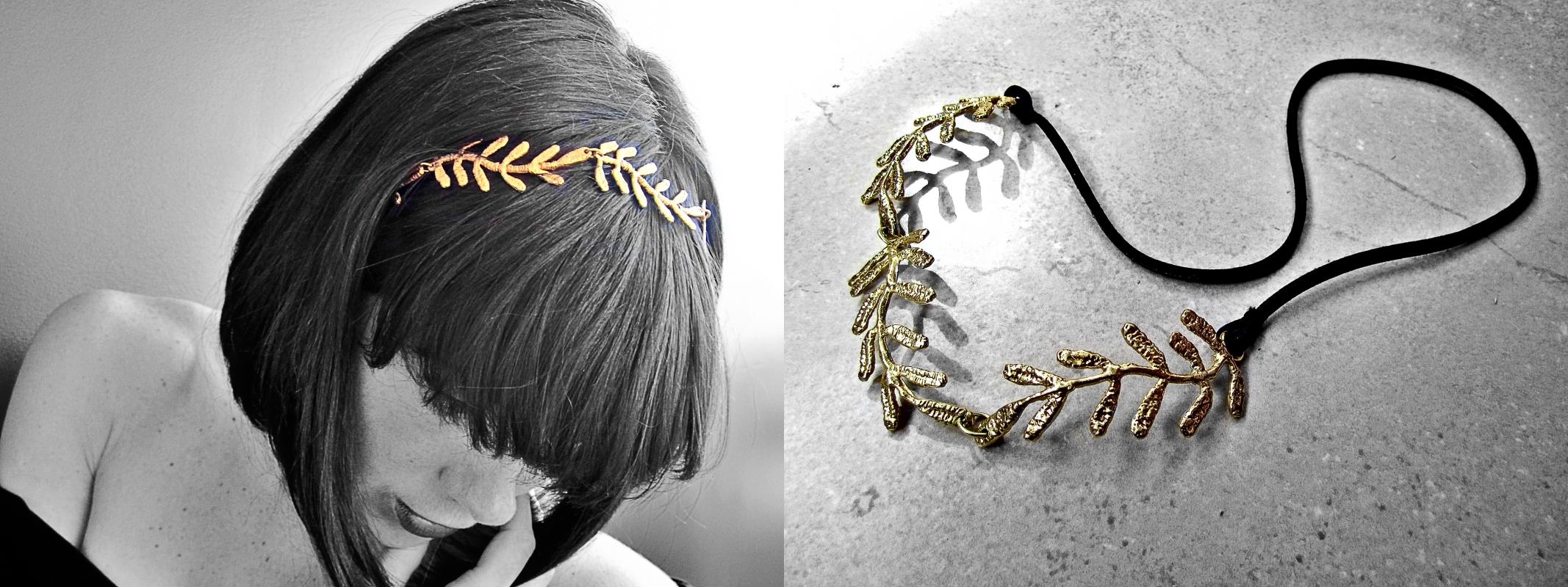 Vintage Gold diadem headband