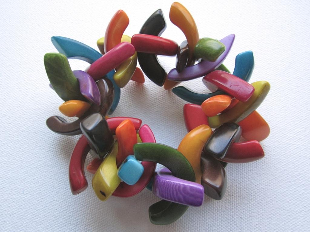 Colorful Fair Trade Tagua Bracelet