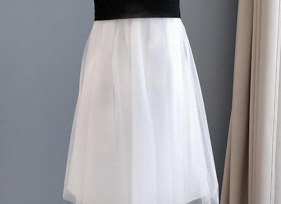 Lilly Bridal JF Robe mariée / cocktail courte noire et blanche
