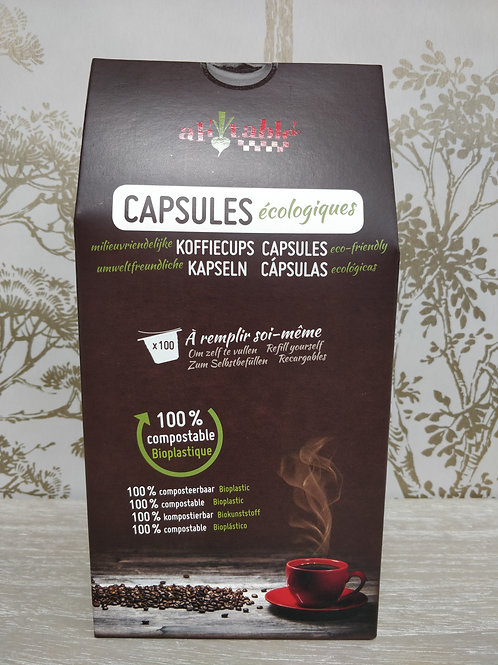 Capsule nesresso biodegradables x100
