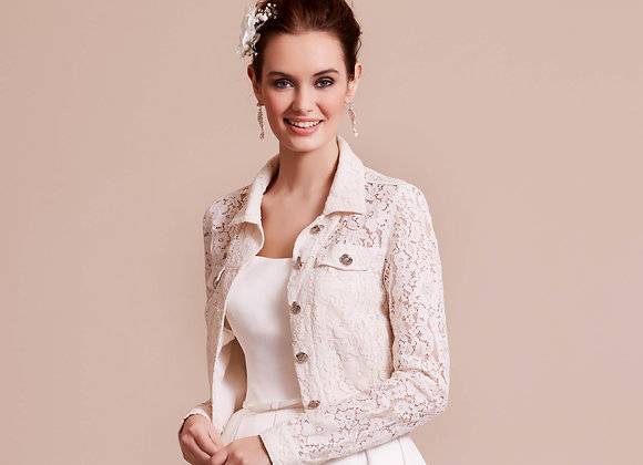 Veste en dentelle coupe Jean - Lilly Bridal