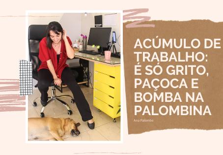 Acúmulo de trabalho: é só grito, paçoca e bomba na Palombina