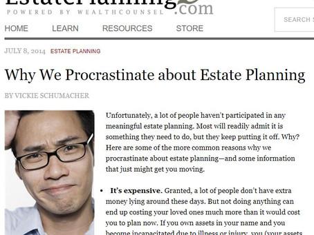 Procrastination in Estate Planning
