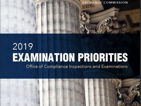 SEC's OCIE Reveals 2019 Priorities
