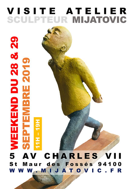 Visitie atelier sculpteur Mijatovic 2019