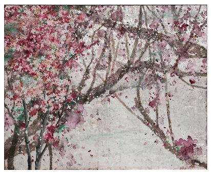 謝淑慧 盛開 Full Bloom 45.5x53 cm 銀箔、染色.jpg