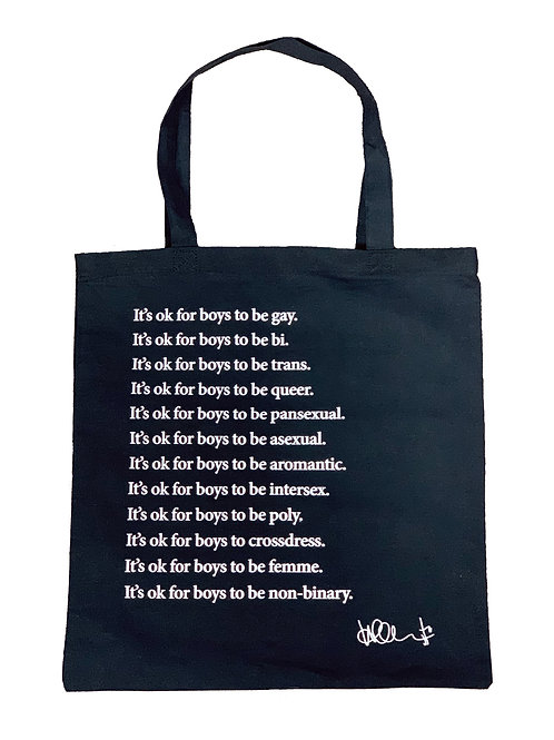 it's ok for boys to be...tote