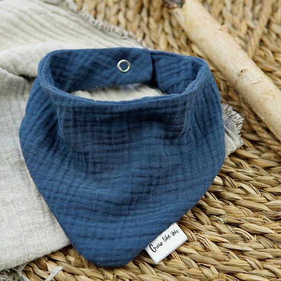 Babyhalstuch - Jeansblau -